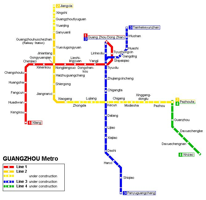 Транспорт Гуанчжоу. Схема